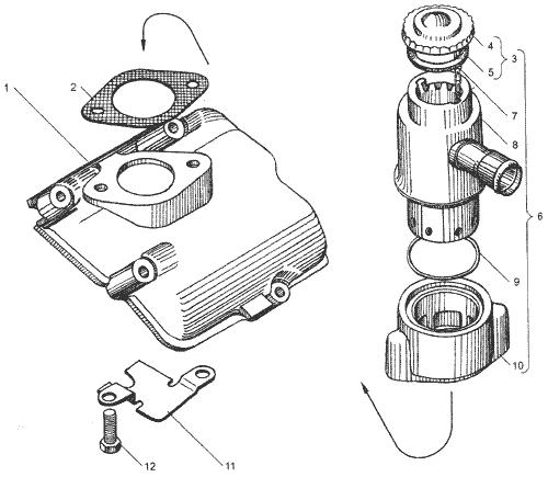 ЯMЗ 236 БE2 : Вентиляция картера