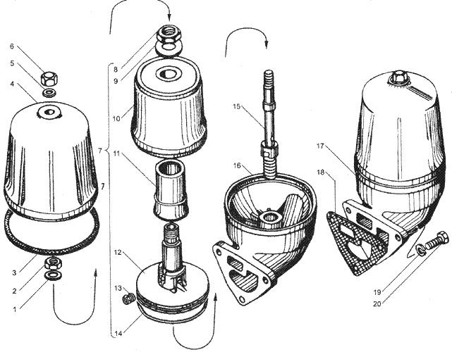 ЯMЗ 236 БE2 : Маслоочиститель центробежный