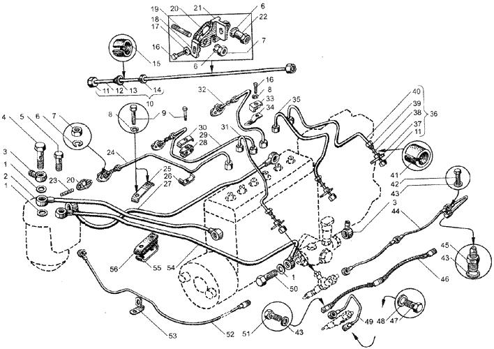 ЯMЗ 236 БE2 : Топливные трубопроводы
