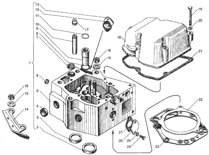 ЯMЗ 236 БE2 : Головка цилиндров