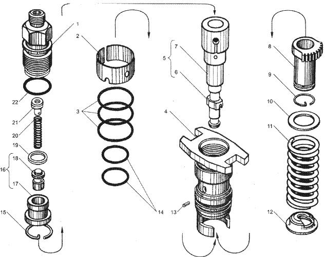 ЯMЗ 236 БE2 : Секция ТНВД