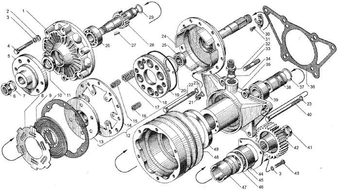 ЯMЗ 236 БE2 : Привод вентилятора
