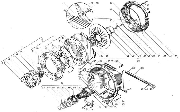 ЯMЗ 236 БE2 : Сцепление ЯМЗ-183