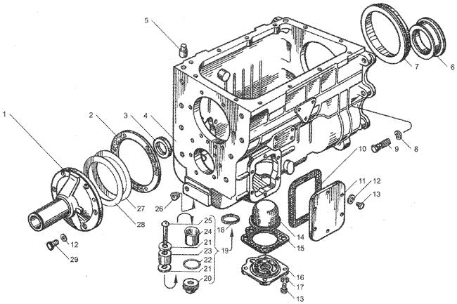 ЯMЗ 236 БE2 : Картер коробки передач