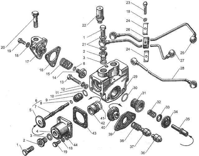 ЯMЗ 236 БE2 : Управление механизмом переключения демультипликатора