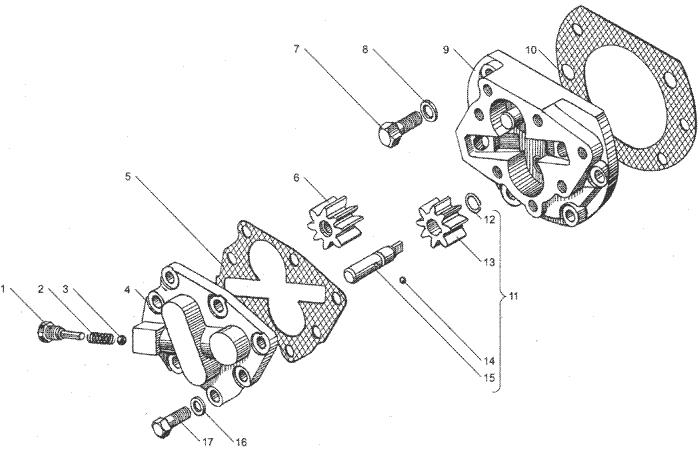 ЯMЗ 236 БE2 : Масляный насос коробки передач