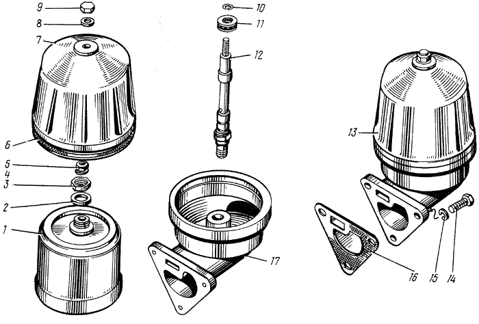 ЯMЗ 238 M : Фильтр центробежной очистки масла