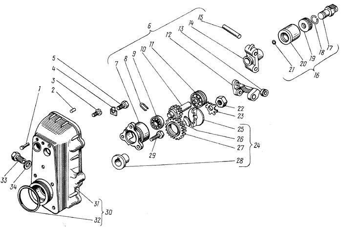 ЯMЗ 238 M : Регулятор частоты вращения
