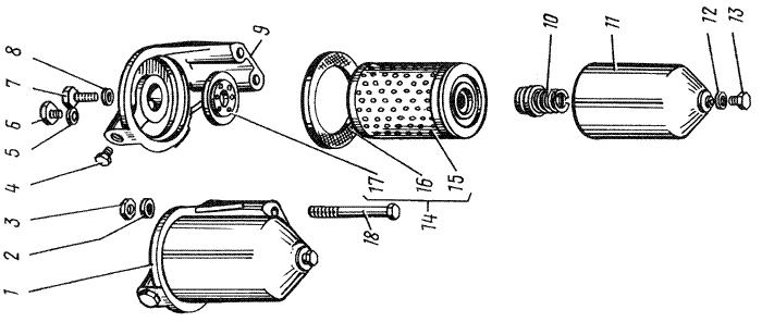 ЯMЗ 238 M : Фильтр тонкой очистки топлива