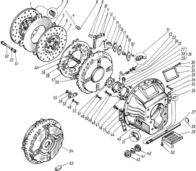 ЯMЗ 238 M : Сцепление