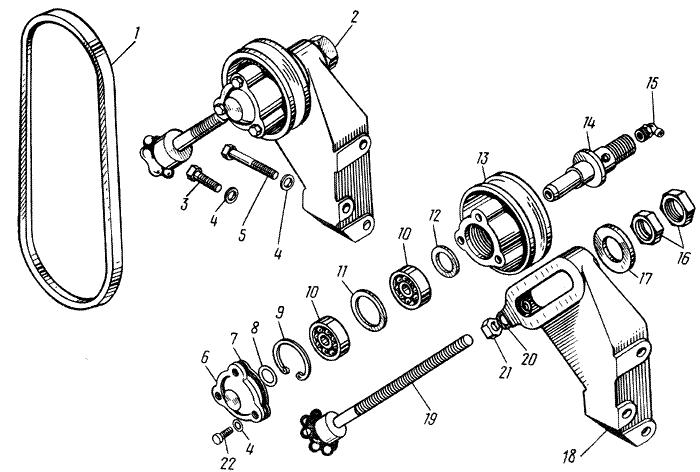 ЯMЗ 238 M : Натяжное устройство
