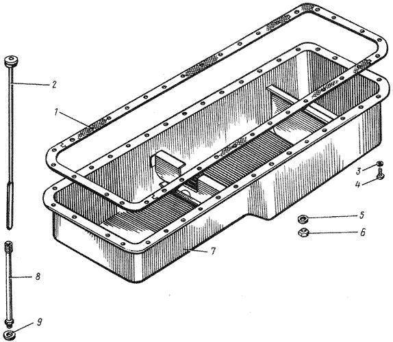 ЯMЗ 238 M : Поддон блока цилиндров
