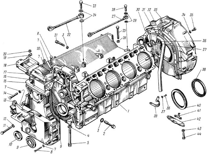 ЯMЗ 238 ГM : Блок цилиндров