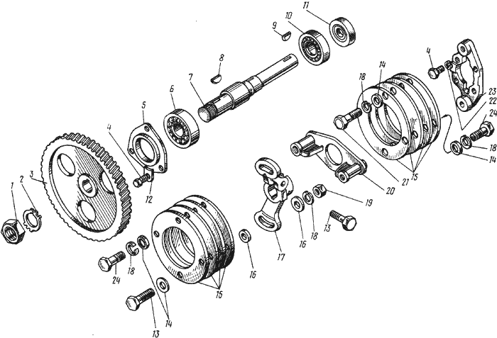 ЯMЗ 238 АM : Привод топливного насоса высокого давления