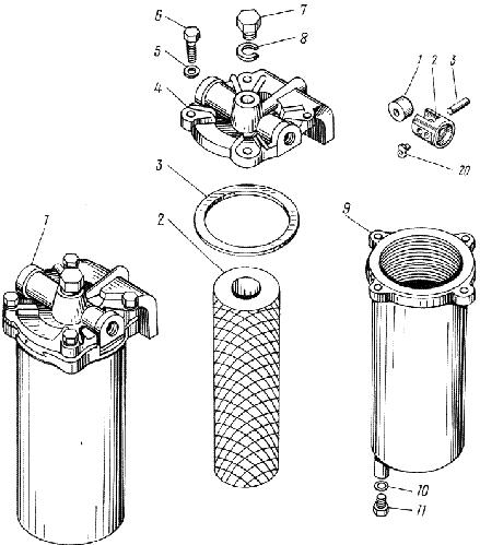 ЯMЗ 238 АM : Фильтр грубой очистки топлива
