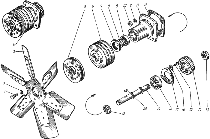 ЯMЗ 238 АM : Вентилятор