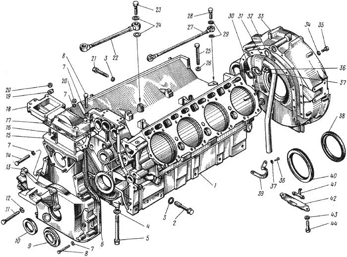 ЯMЗ 238 ИM : Блок цилиндров