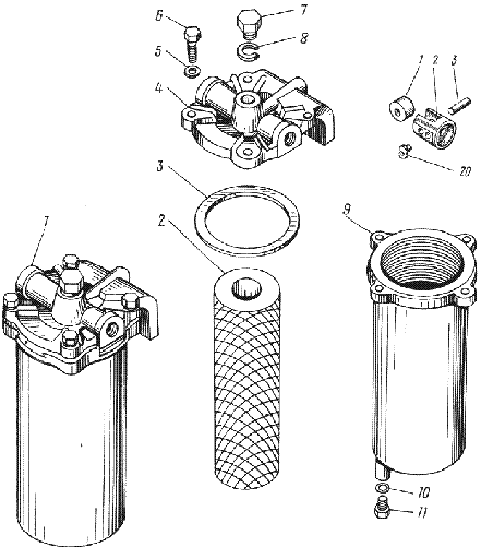 ЯMЗ 238 ИM : Фильтр грубой очистки топлива