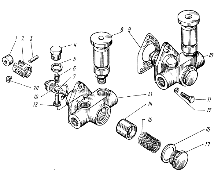 ЯMЗ 238 HД : Топливный насос