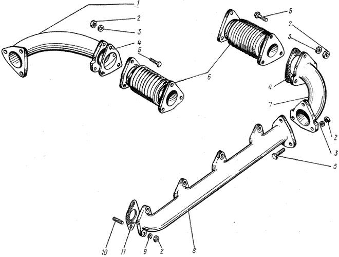ЯMЗ 238 HД : Газопровод