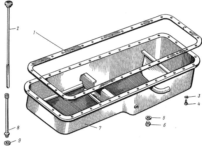 ЯMЗ 238 HД : Поддон блока цилиндров