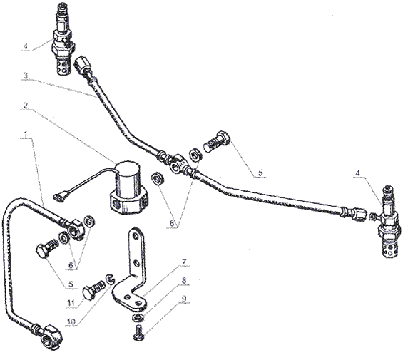 ЯMЗ 238 Б : Электрофакельное устройство