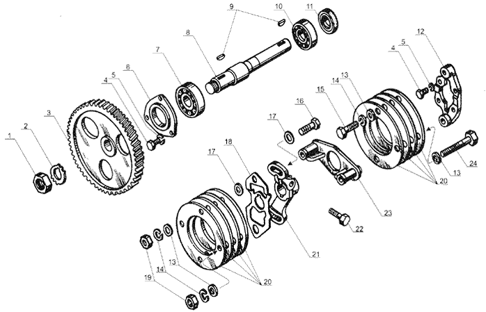 ЯMЗ 238 Б : Привод топливного насоса
