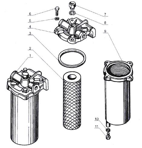 ЯMЗ 238 Б : Фильтр грубой очистки топлива