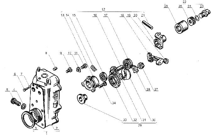ЯMЗ 238 Б : Топливоподкачивающий насос