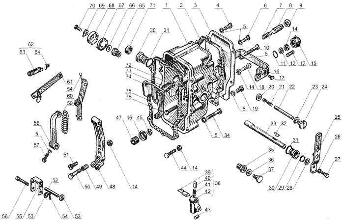 ЯMЗ 238 Б : Корпус регулятора частоты вращения