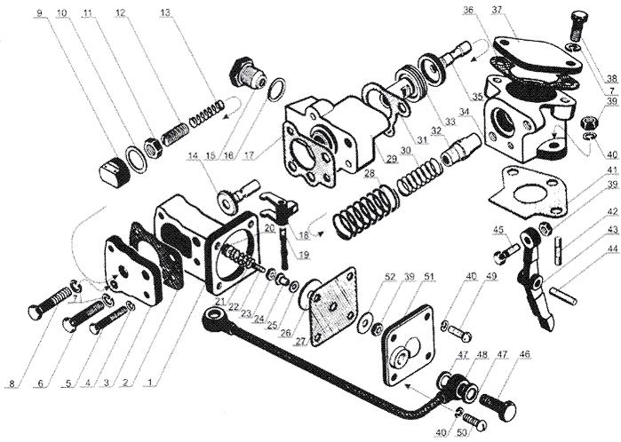 ЯMЗ 238 Б : Регулятор частоты вращения