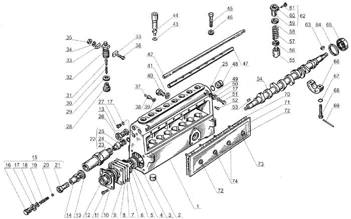 ЯMЗ 238 Б : Корректор подачи топлива по поддуву