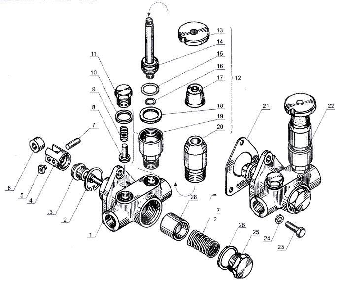 ЯMЗ 238 Б : Впускной трубопровод