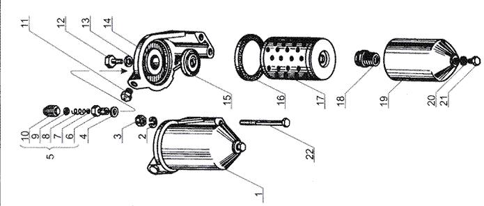 ЯMЗ 238 Б : Фильтр тонкой очистки топлива