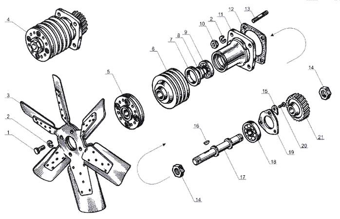 ЯMЗ 238 Б : Вентилятор
