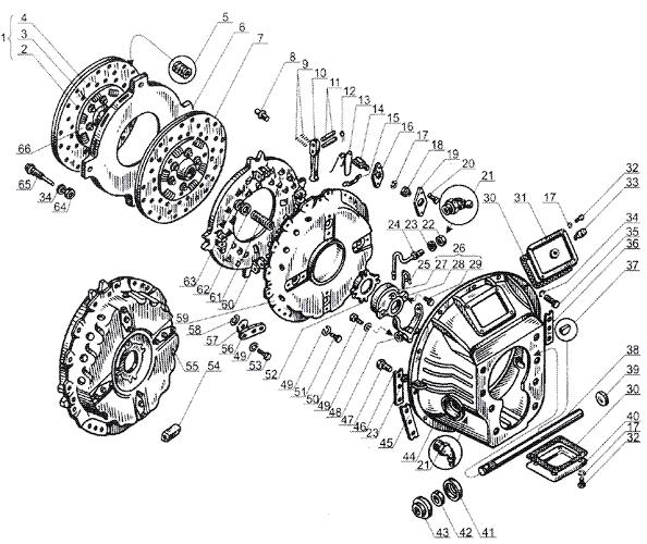 ЯMЗ 238 Б : Сцепление ЯМЗ 238Н