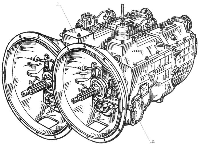 ЯMЗ 238 Б : Коробка передач