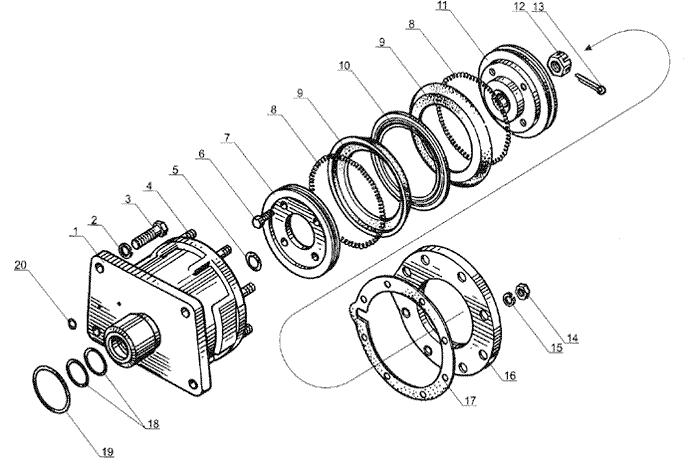 ЯMЗ 238 Б : Цилиндр механизма переключения понижающей передачи