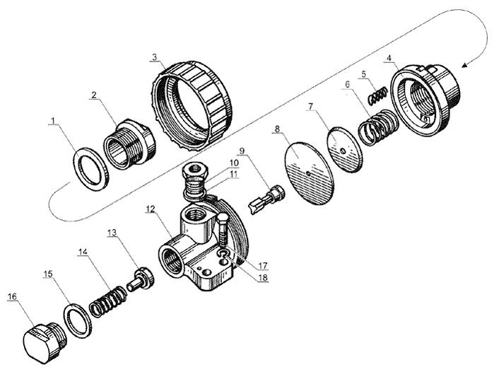 ЯMЗ 238 Б : Редукционный клапан коробки передач