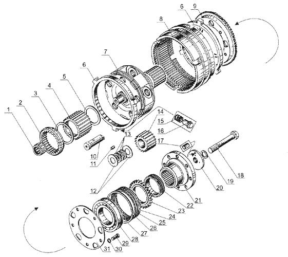 ЯMЗ 238 Б : Ваалы и шестерни демультипликатора