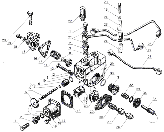 ЯMЗ 238 Б : Управление механизмом переключения демультипликато