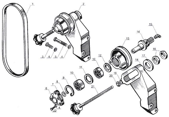 ЯMЗ 238 Б : Натяжное устройство