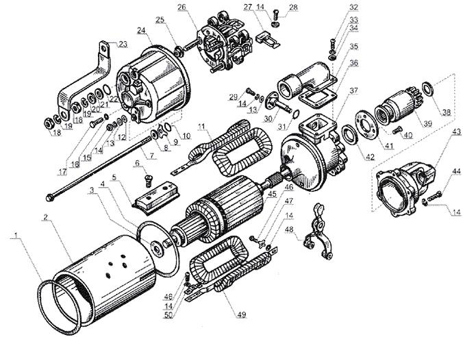 ЯMЗ 238 Б : Стартер СТ-25