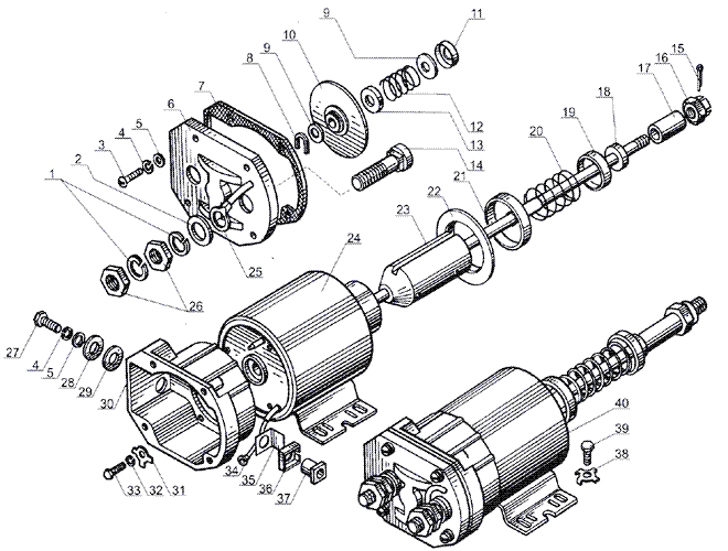 ЯMЗ 238 Б : реле стартера
