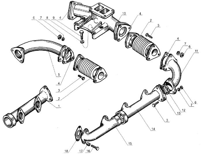 ЯMЗ 238 Б : Газопровод