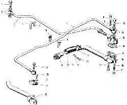 ЯМЗ 240 НМ2 Масляные трубки турбокомпрессора К-36