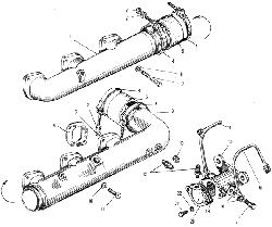 ЯМЗ 240 НМ2 Впускной трубопровод