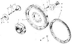 ЯМЗ 240 НМ2 Маховик и механизм поворота