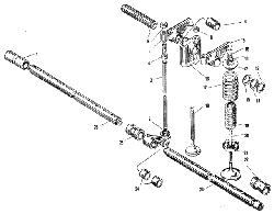 ЯМЗ 240 НМ2 Клапаны и толкатели
