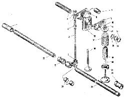 ЯМЗ 240 ПМ2 Клапаны и толкатели